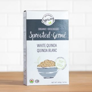 A box of organic sprouted quinoa