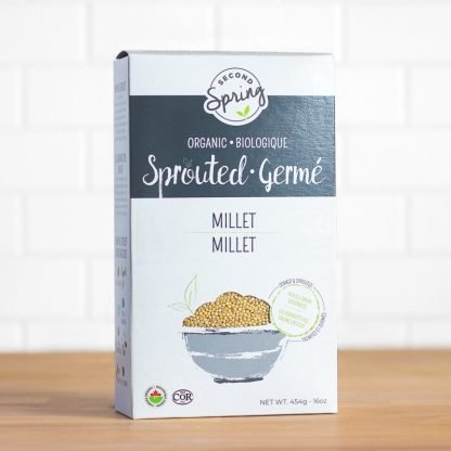A box of organic sprouted millet