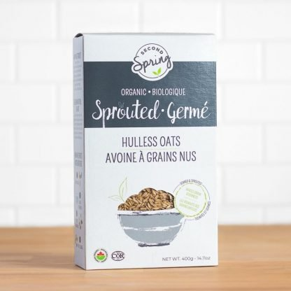A box of sprouted hulless oats