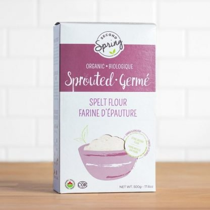 A box of Organic Sprouted Spelt Flour