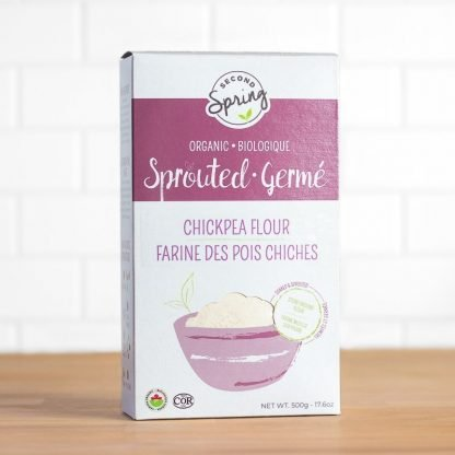 A box of organic sprouted chickpea flour
