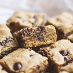 Peanut Butter Chocolate Chip Sprouted Oat Bars