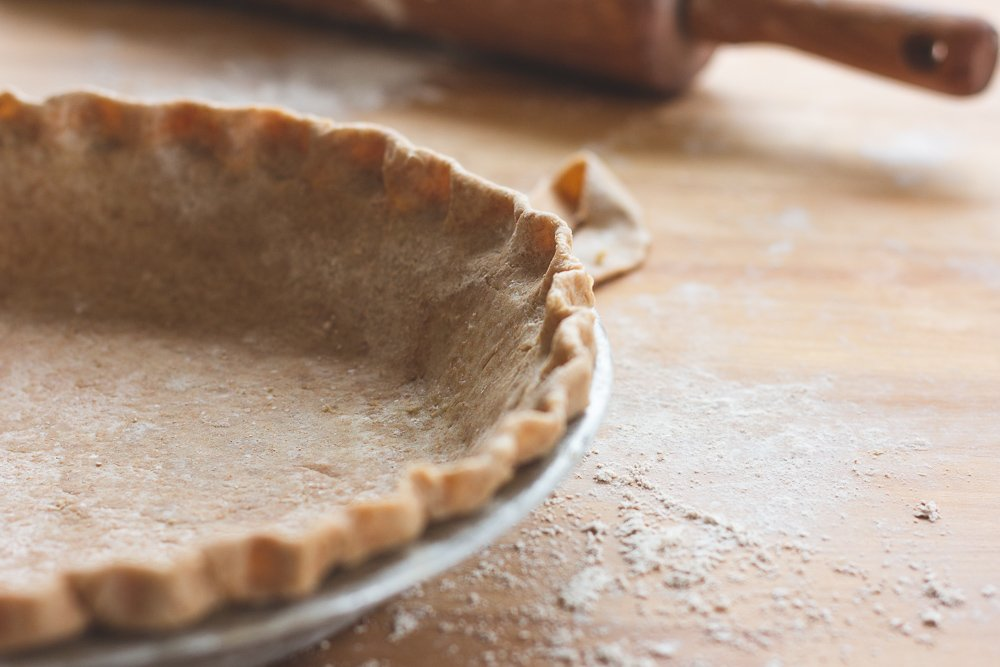 Pie crust made with sprouted spelt flour