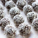 Sprouted Quinoa & Flax Chocolate Snack Balls