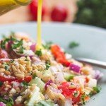 sprouted hulless oat salad