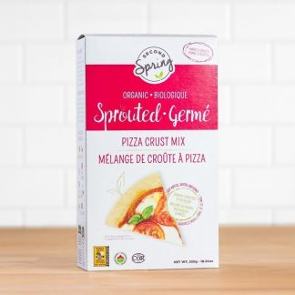A box of organic sprouted pizza crust mix