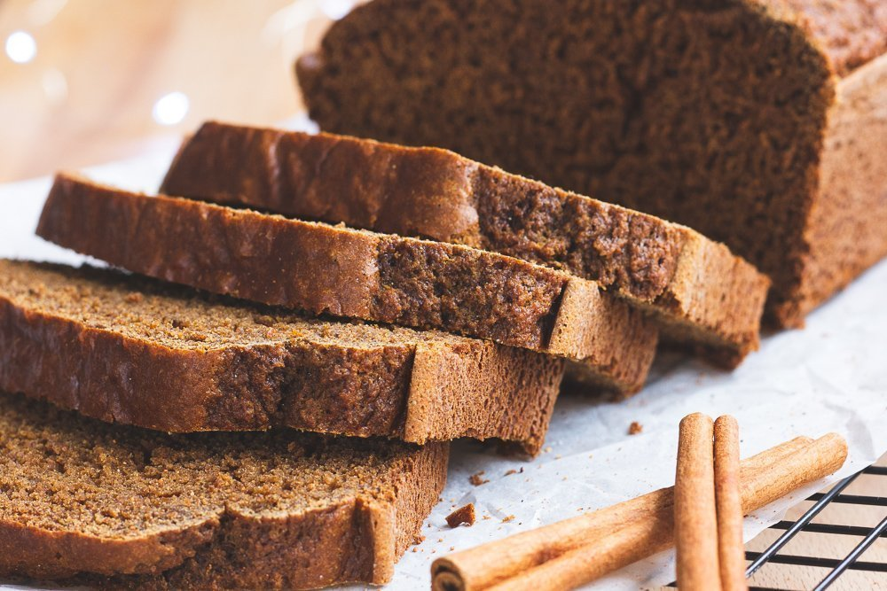 Sprouted Wheat Gingerbread Loaf