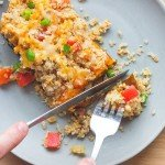 Breakfast sweet potatoes with sprouted quinoa