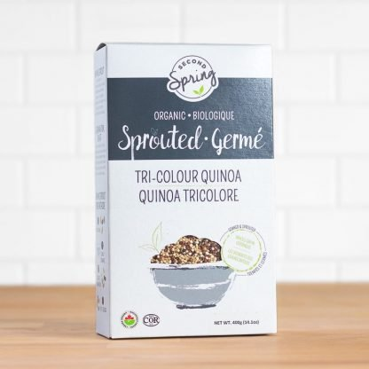 A box of sprouted quinoa